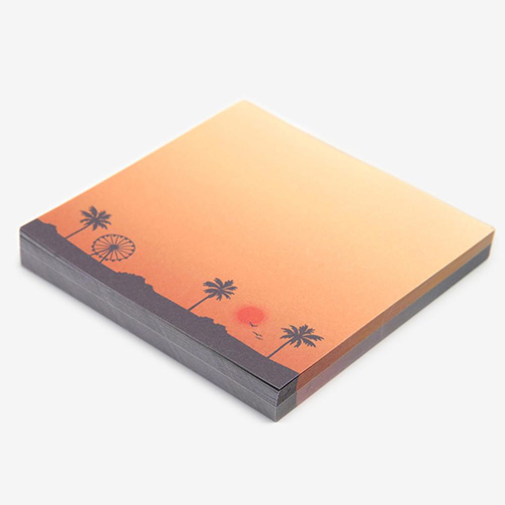 100 sheets - Dailylike Sunset 2 designs memo writing notepad