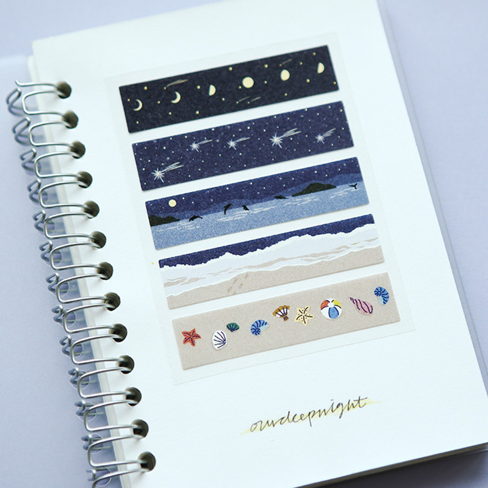 Example of use - Dailylike Midnight masking seal paper deco sticker 4 sheets set