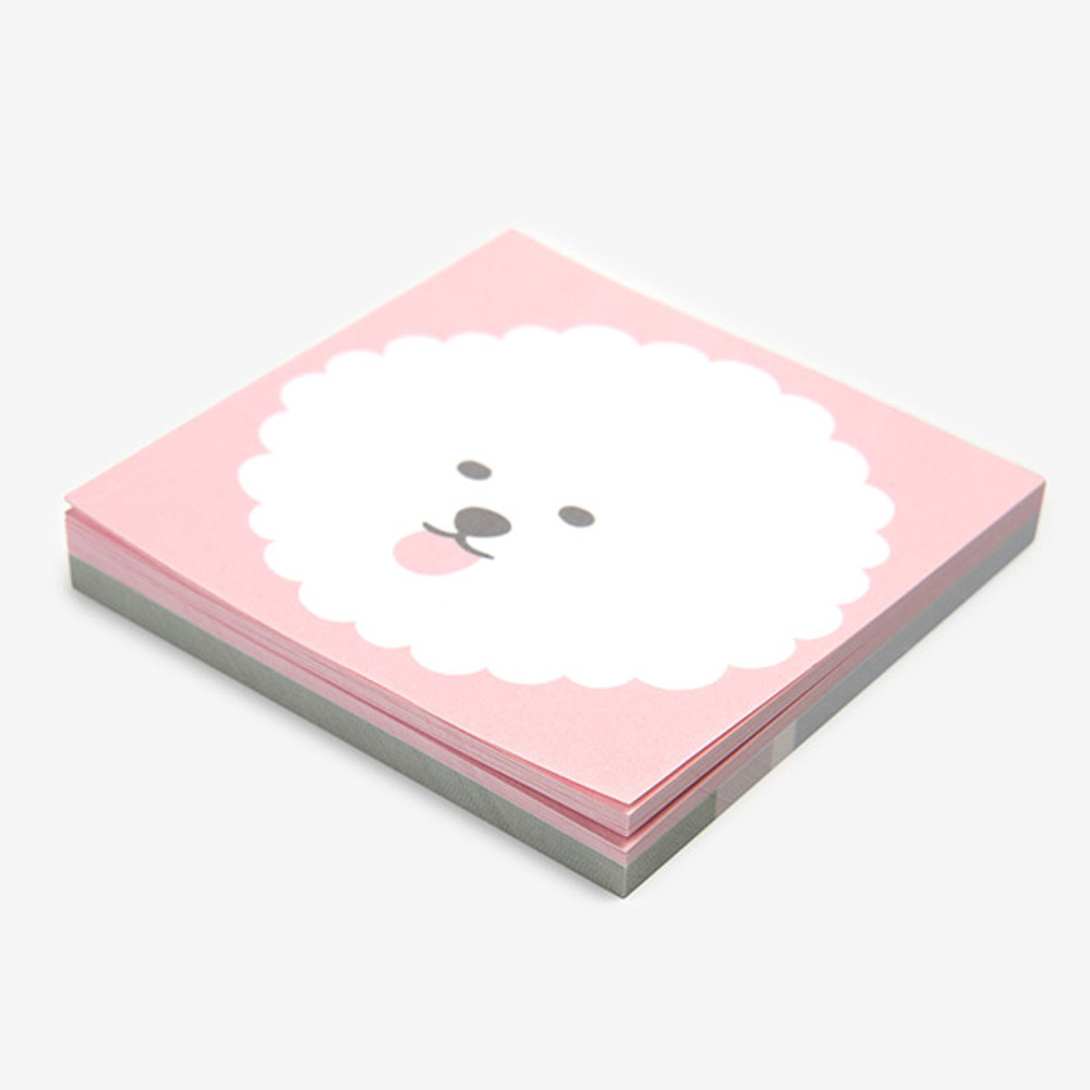 2 design - Dailylike Bichon Frise 2 designs memo writing notepad
