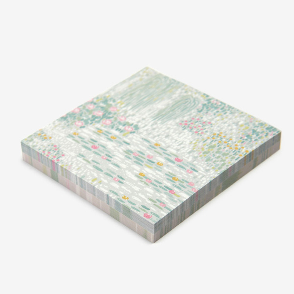 100 sheets - Dailylike Giverny 2 designs memo writing notepad