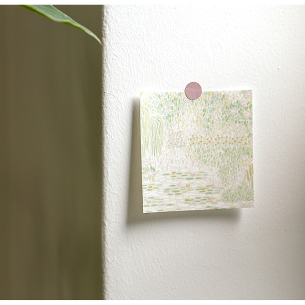 Example of use - Dailylike Giverny 2 designs memo writing notepad