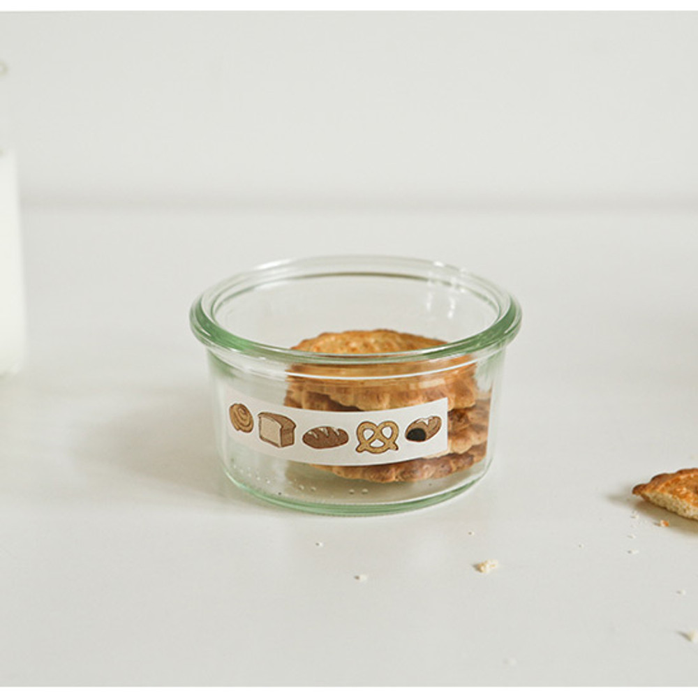 Example of use - Dailylike Bread masking seal paper deco sticker 4 sheets set