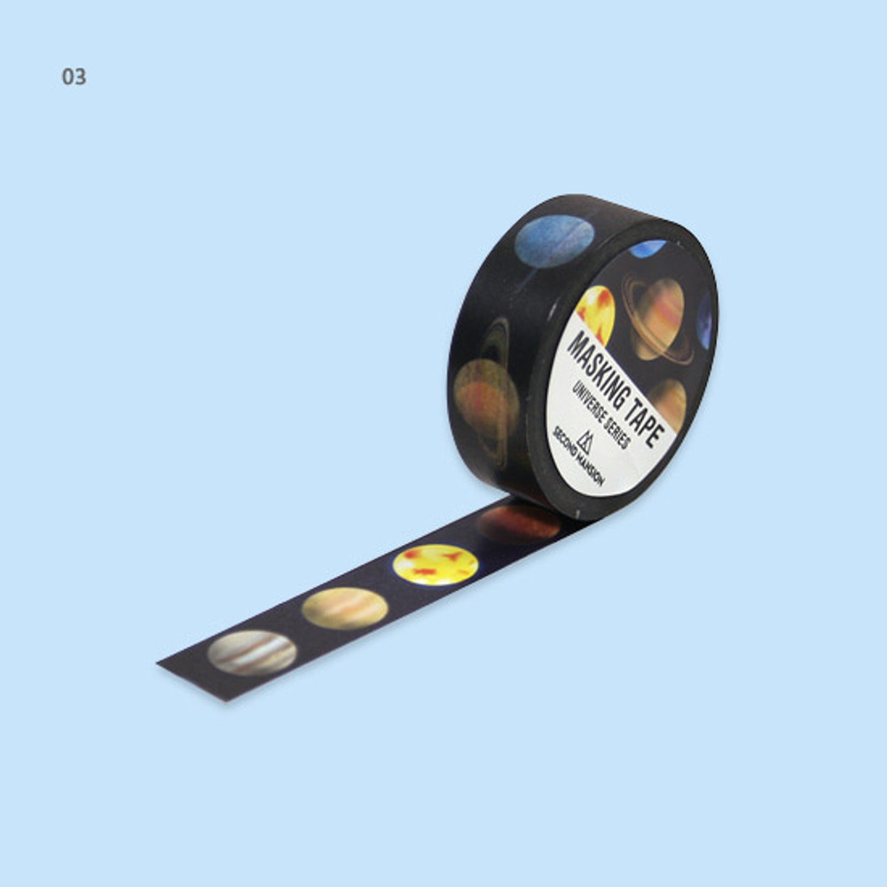 03 - Universe moon 15mm width deco masking tape 02
