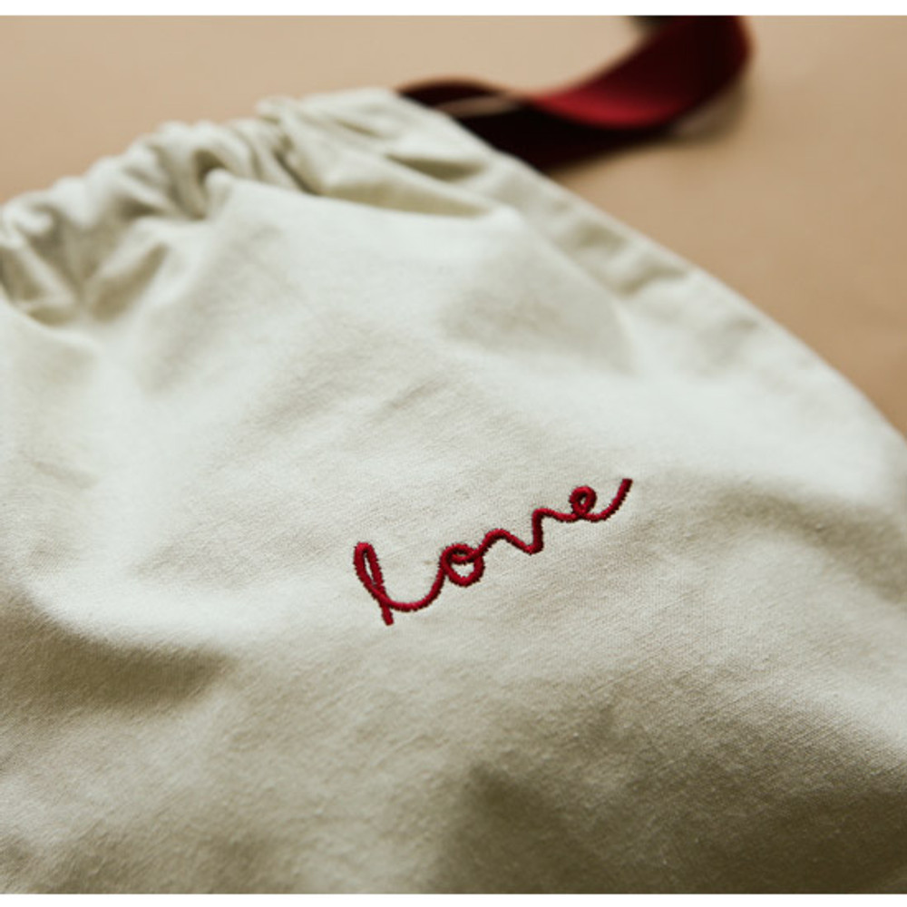 Example of sue - Dailylike Love daily cotton drawstring pouch