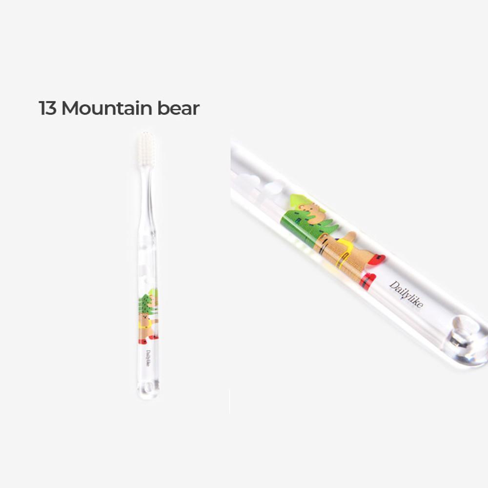 Mountain bear - Dailylike Colorful illustration daily toothbrush