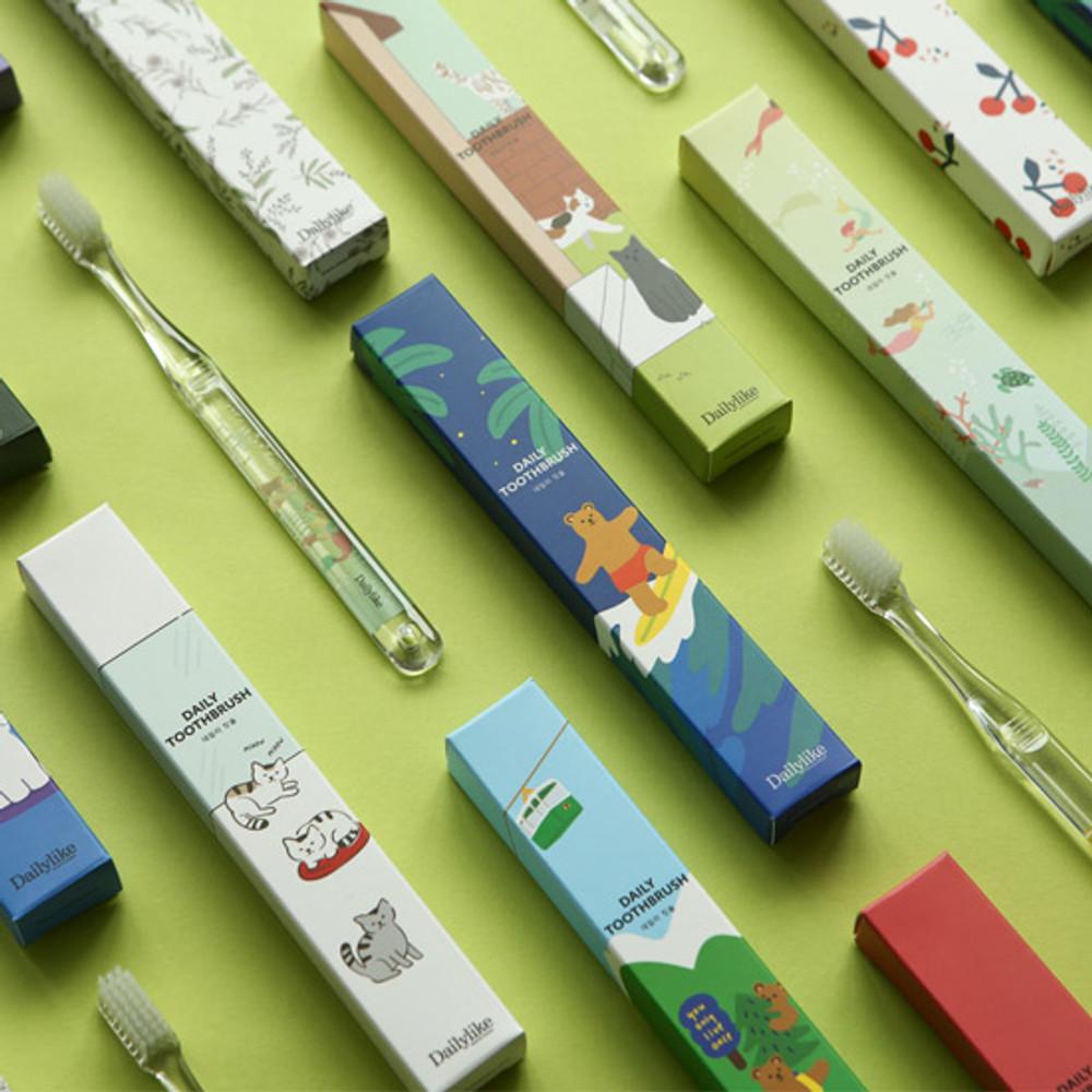 Dailylike Colorful illustration daily toothbrush
