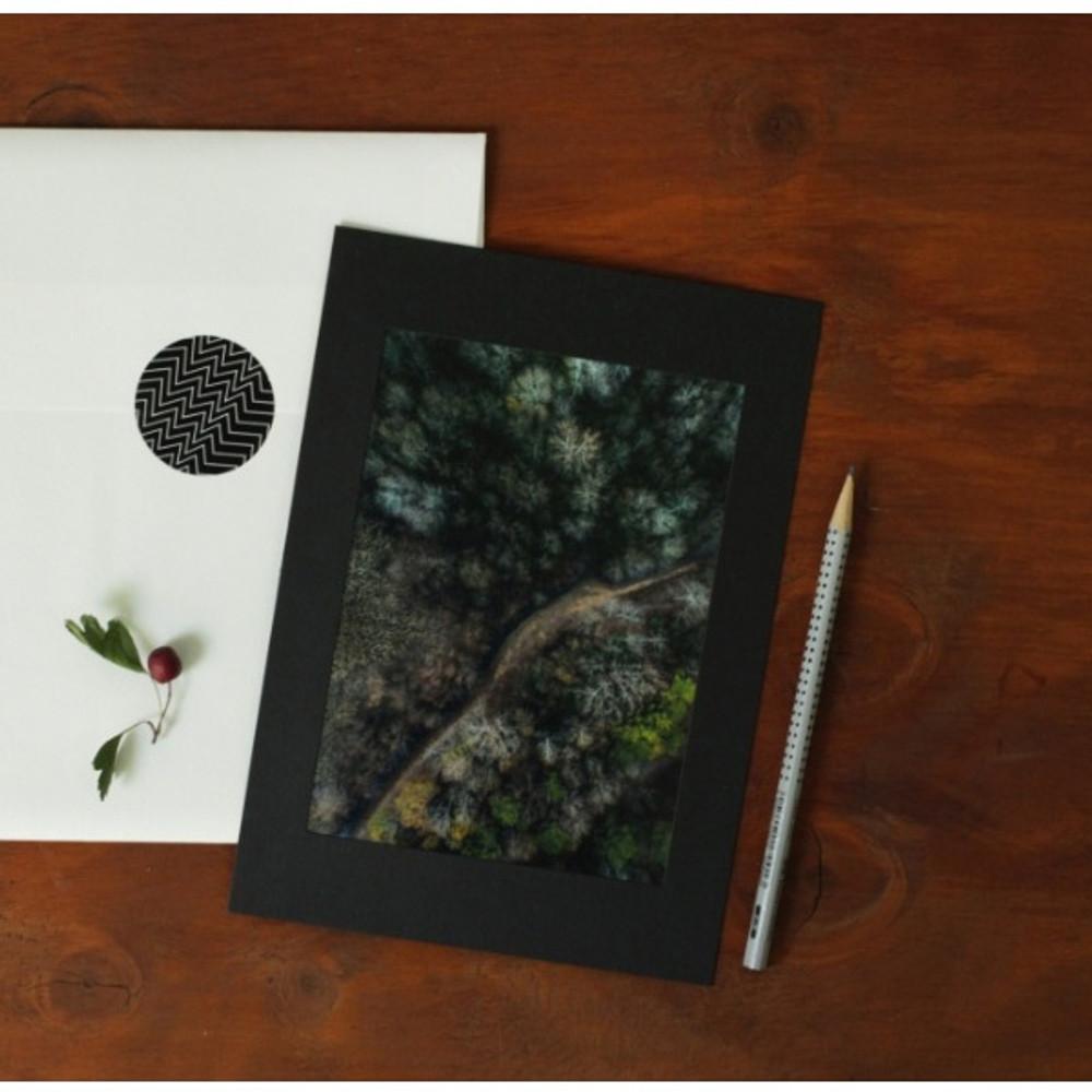 5X7 Black paper photo frame set of 10 sheets