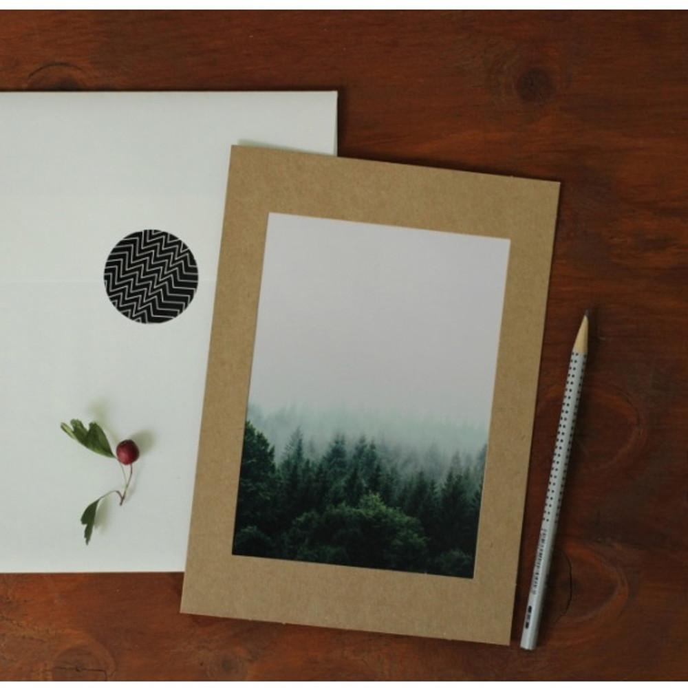 5X7 Kraft paper photo frame set of 10 sheets