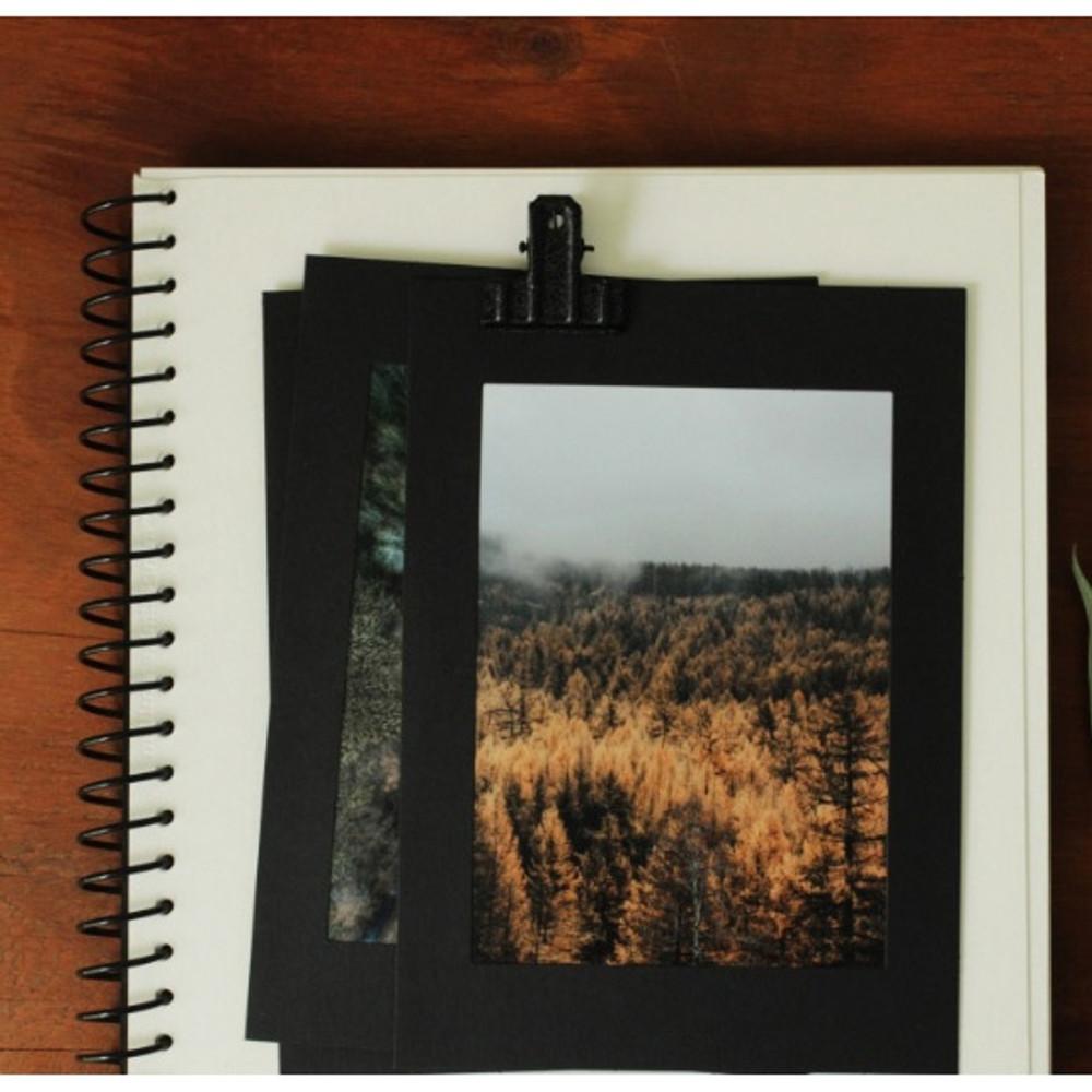 4X6 Black paper photo frame set of 10 sheets