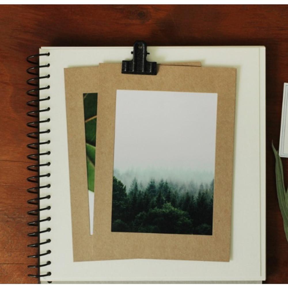 4X6 Kraft paper photo frame set of 10 sheets