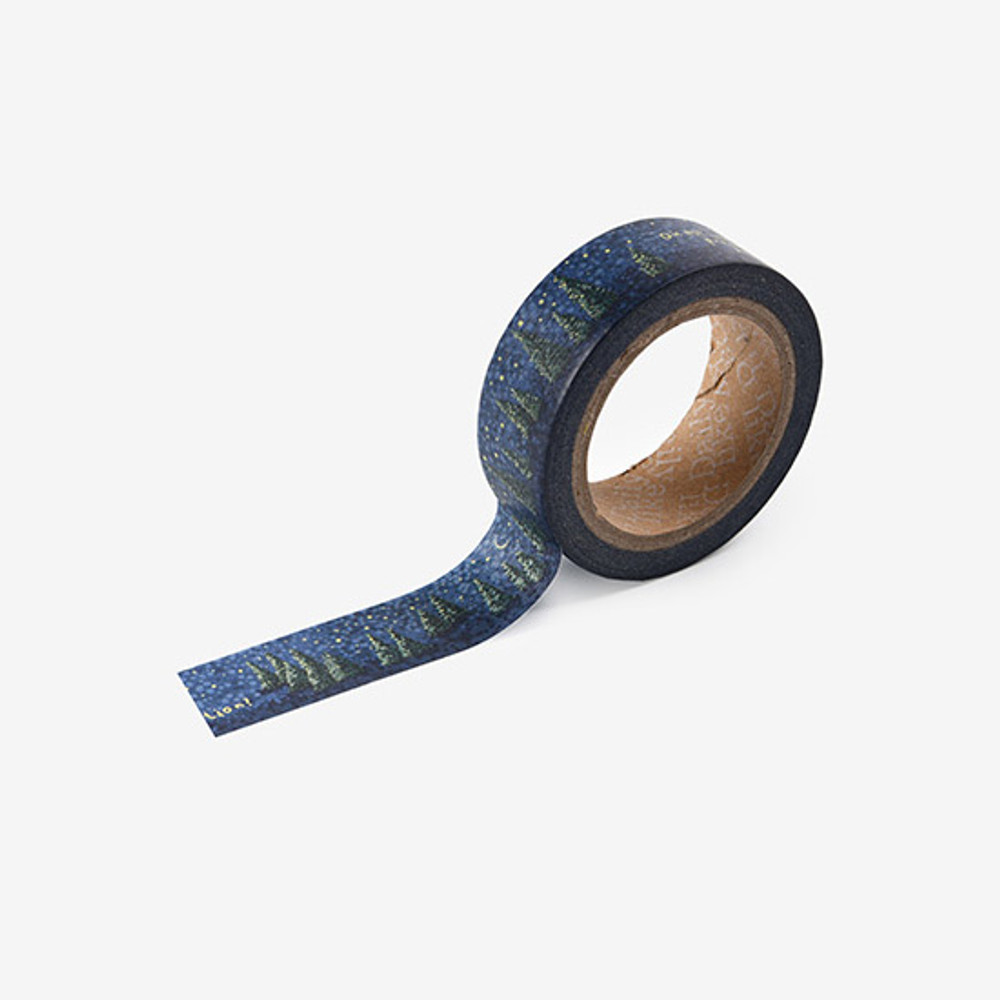 Dailylike Night forest single roll paper deco masking tape