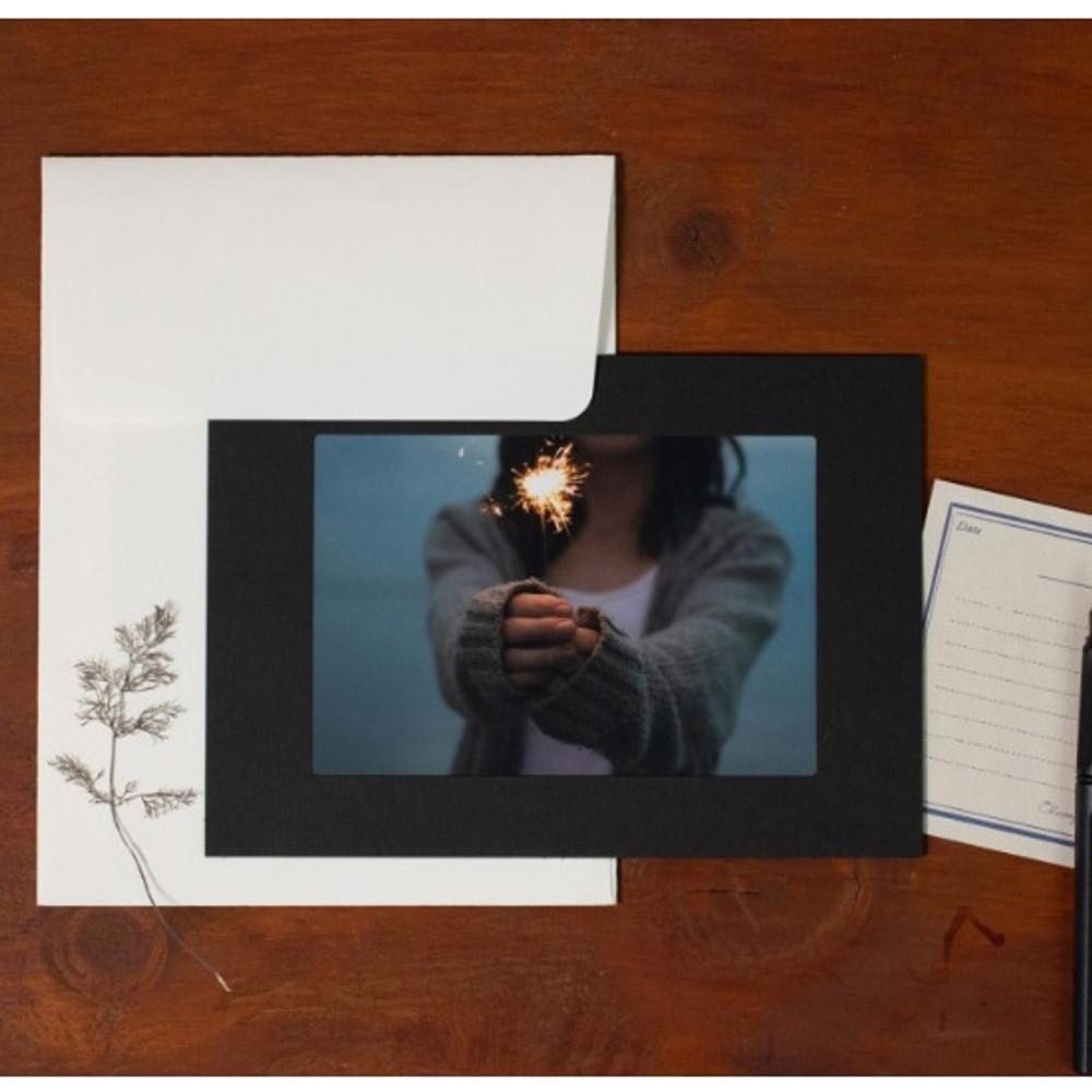 3X5 Black paper photo frame set of 10 sheets