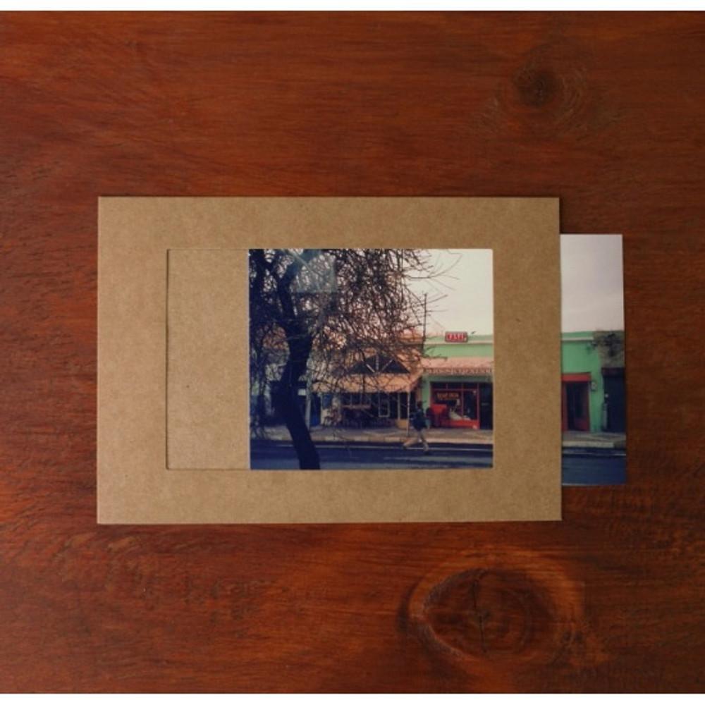 3X5 Kraft paper photo frame set of 10 sheets