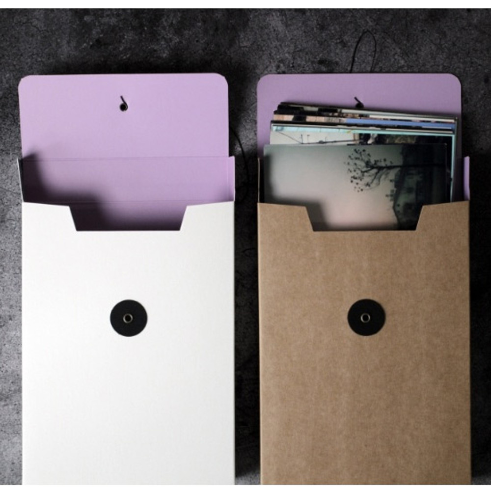 String tie paper photo storage box