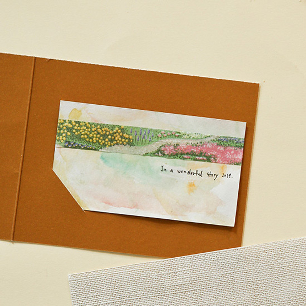 Example of use - Dailylike Flower bed single roll paper deco masking tape