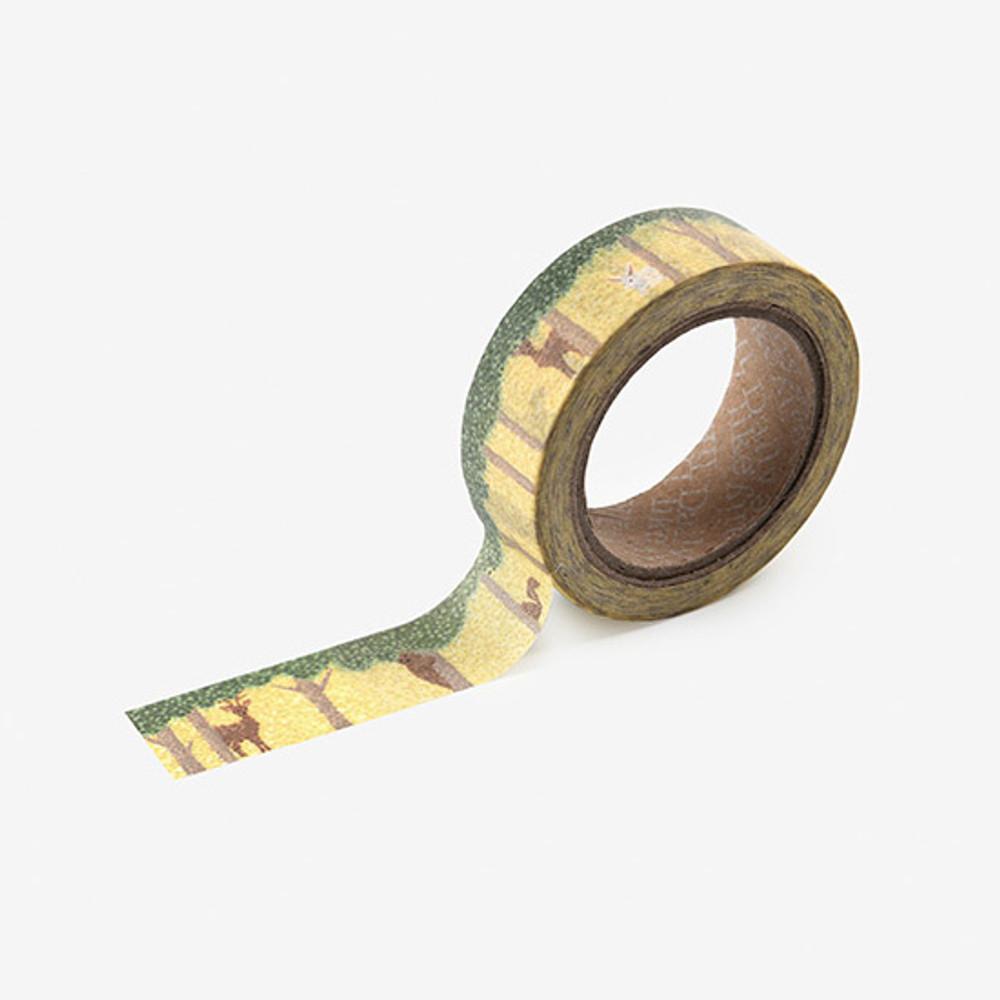 Dailylike Forest animal single roll paper deco masking tape