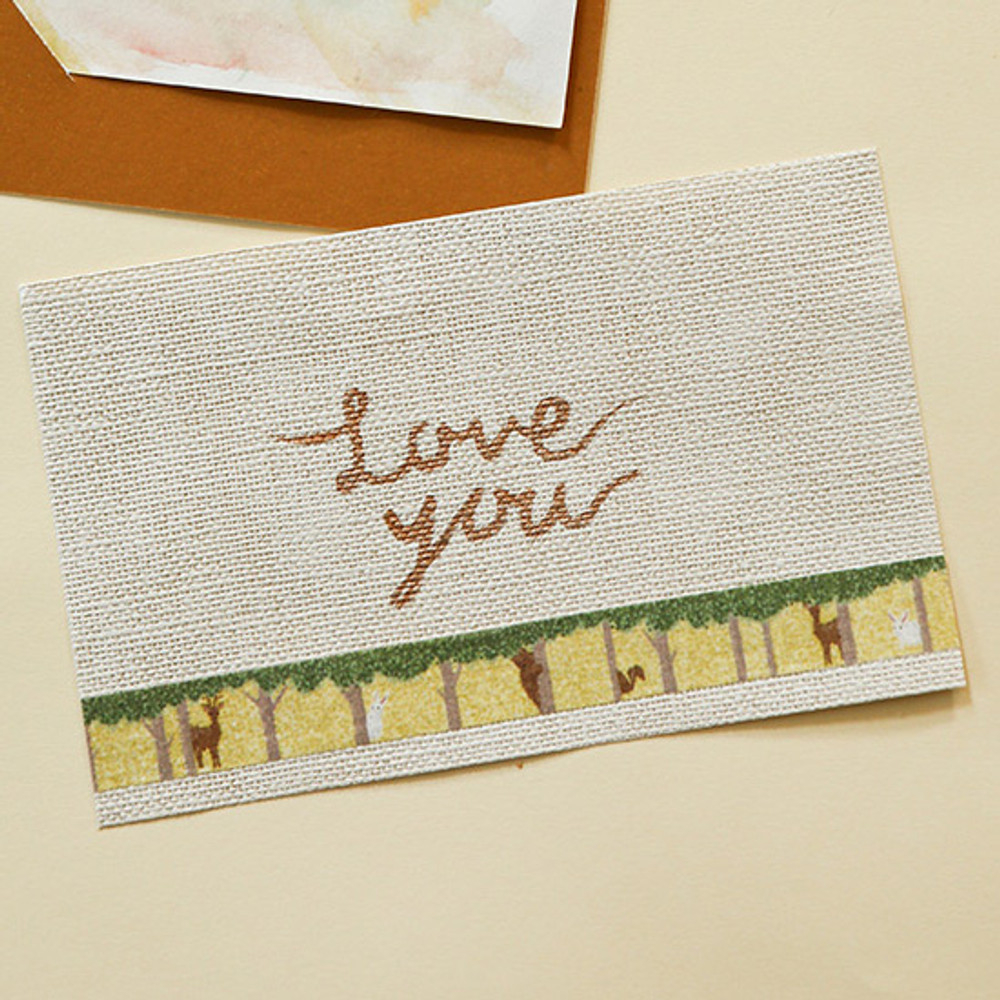 Example of use - Dailylike Forest animal single roll paper deco masking tape