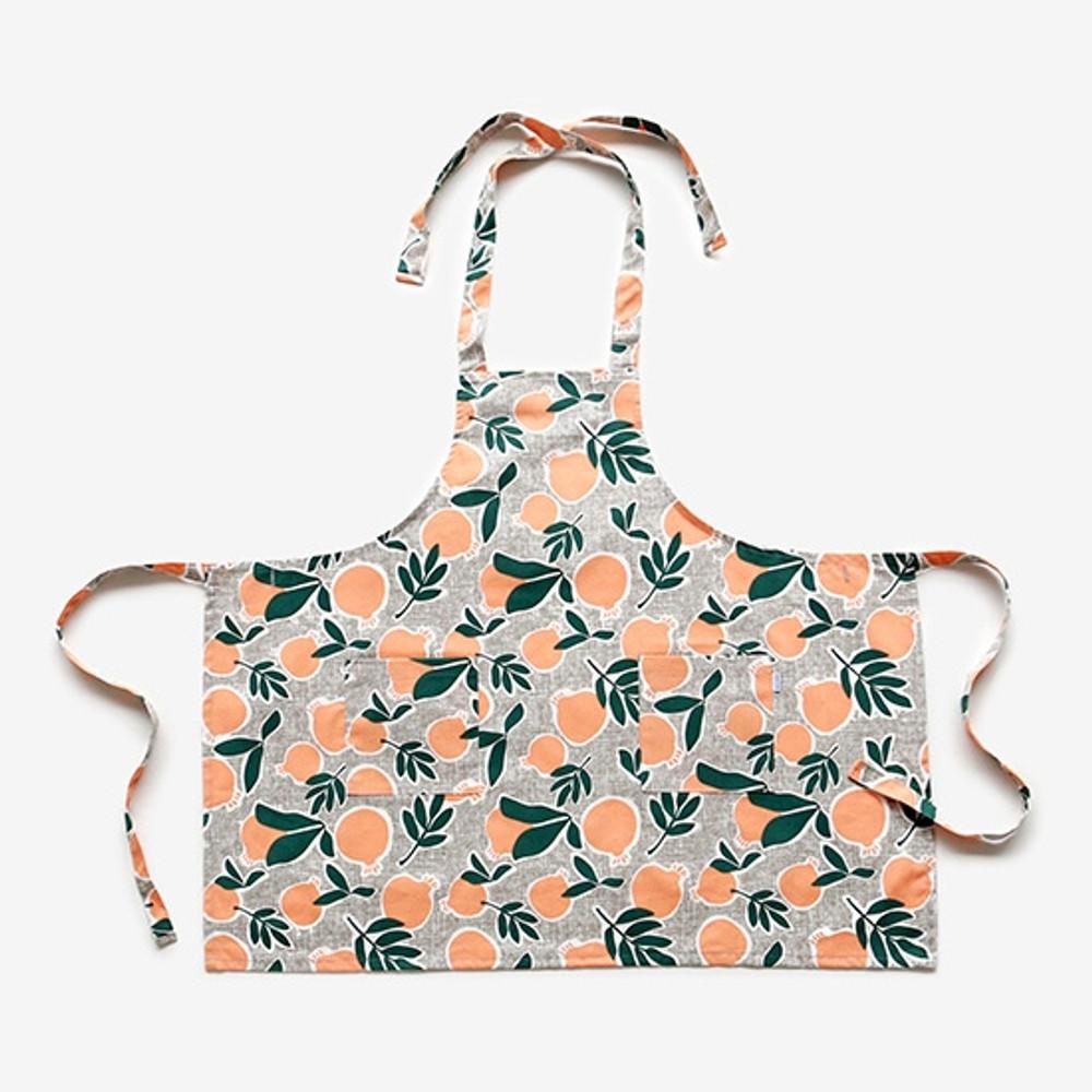 Dailylike Sweet fruits pattern oxford fabric cross back apron