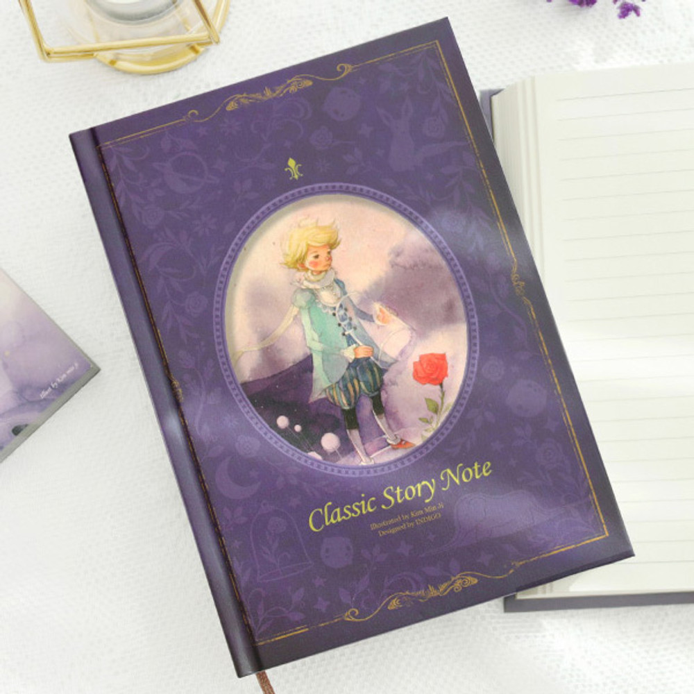 The little prince purple - Indigo Classic story 272 pages hardcover lined notebook