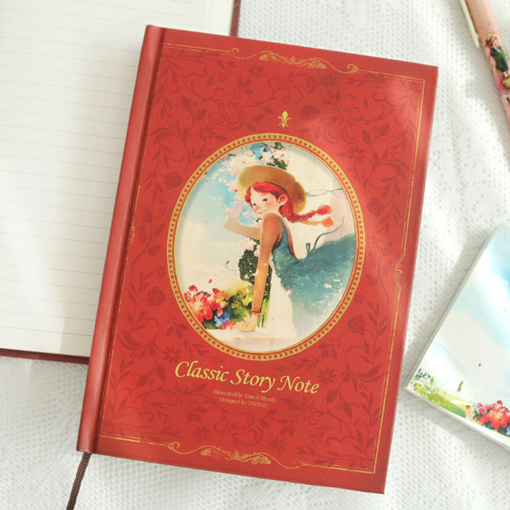 Anne red - Indigo Classic story 272 pages hardcover lined notebook