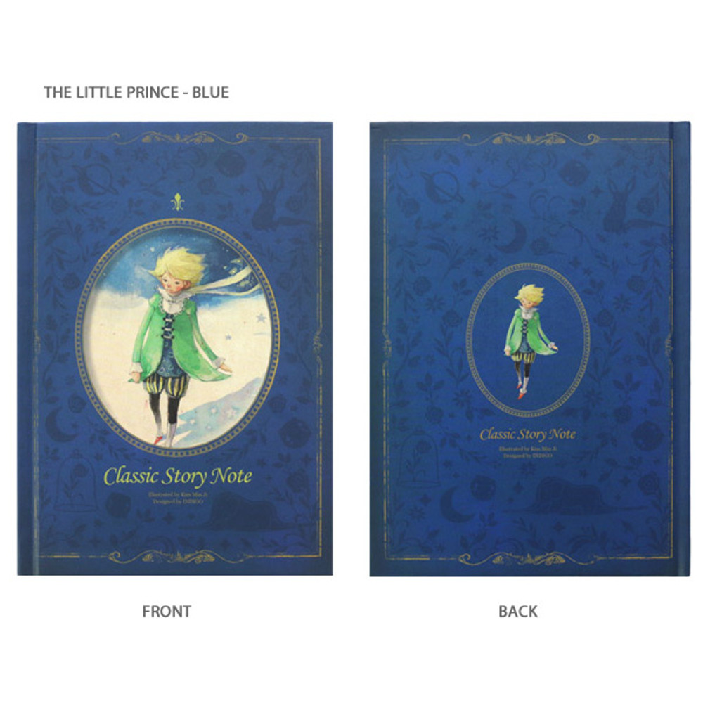 The little prince blue - Indigo Classic story 272 pages hardcover lined notebook