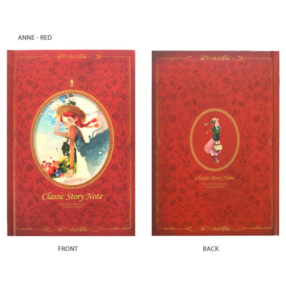 Anne red - Indigo Classic story 272 pages hardcover blank notebook