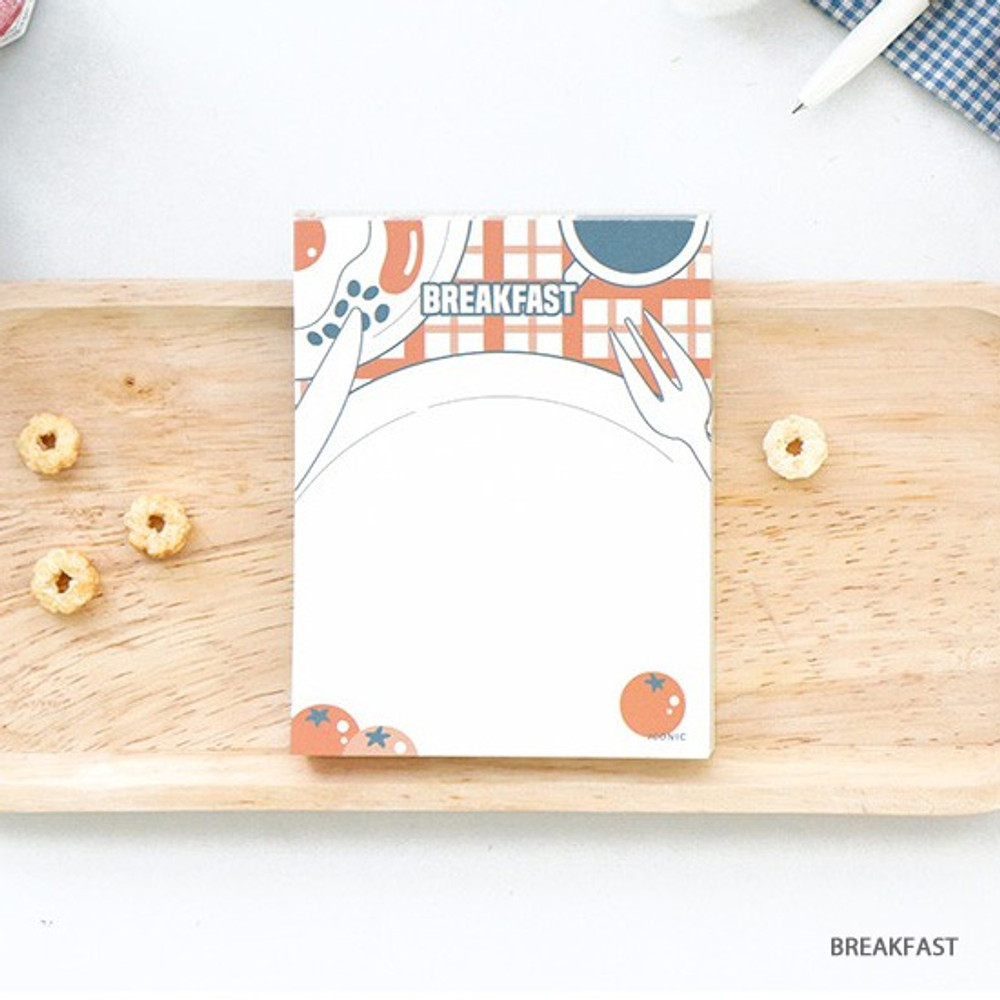 Breakfast - ICONIC Retro 80 sheets memo writing notepad