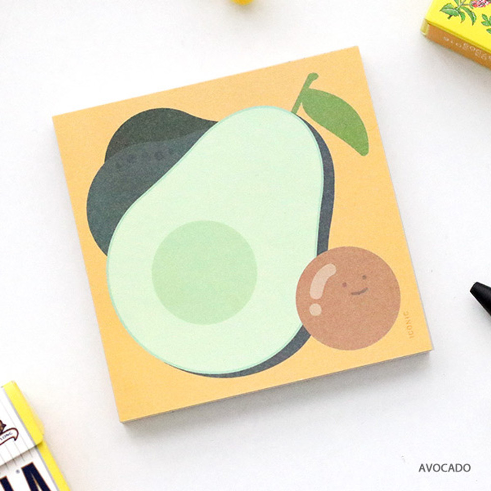 Avocado - ICONIC Buddy 80 sheets memo writing notepad