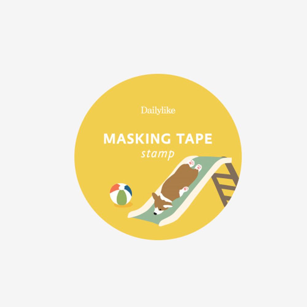 Package of Dailylike Welsh corgi deco single stamp masking tape