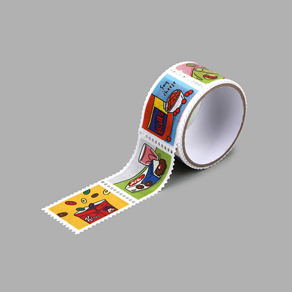 Dailylike Snack deco single stamp masking tape