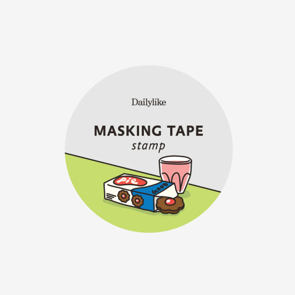Package of Dailylike Snack deco single stamp masking tape
