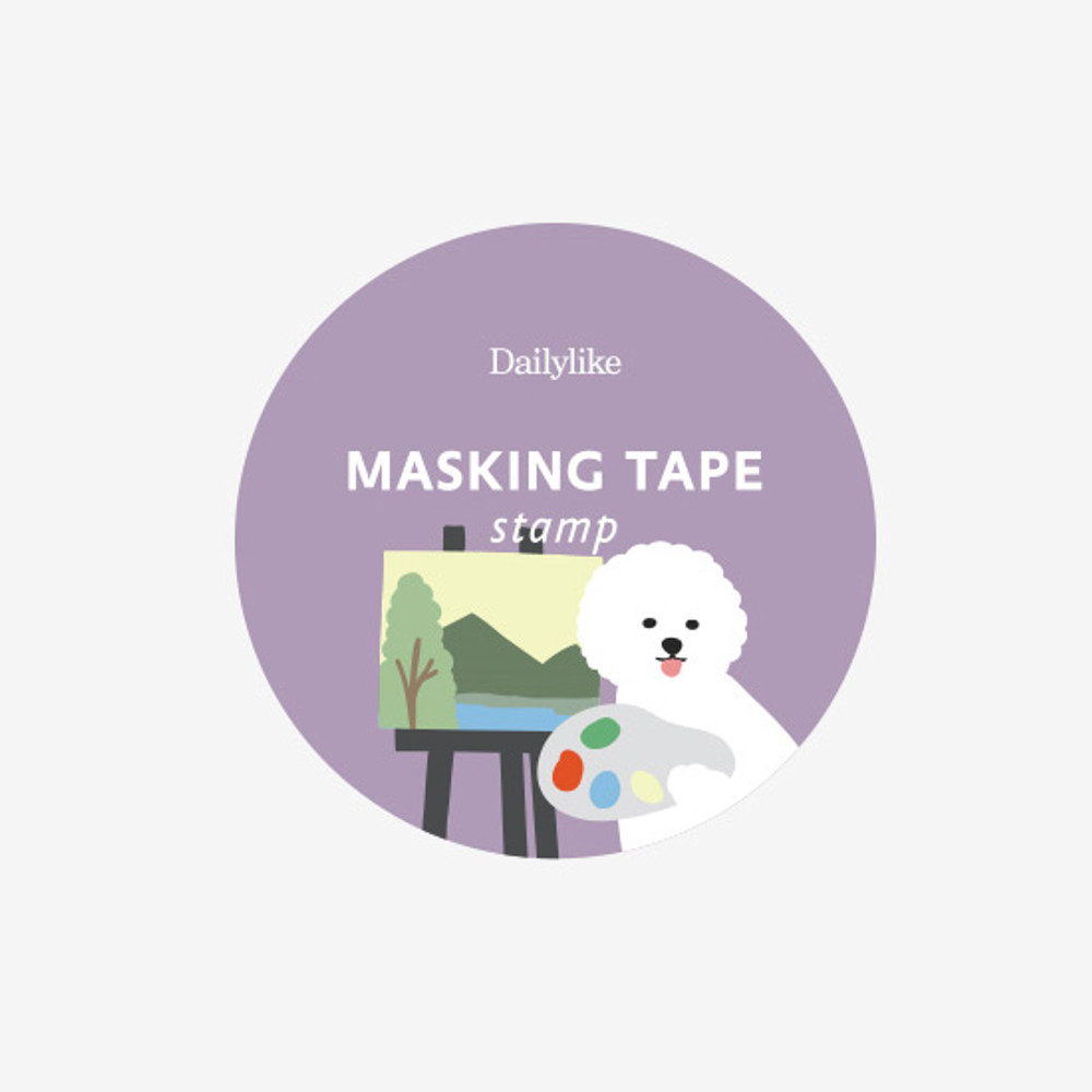 Package of Dailylike Bichon deco single stamp masking tape