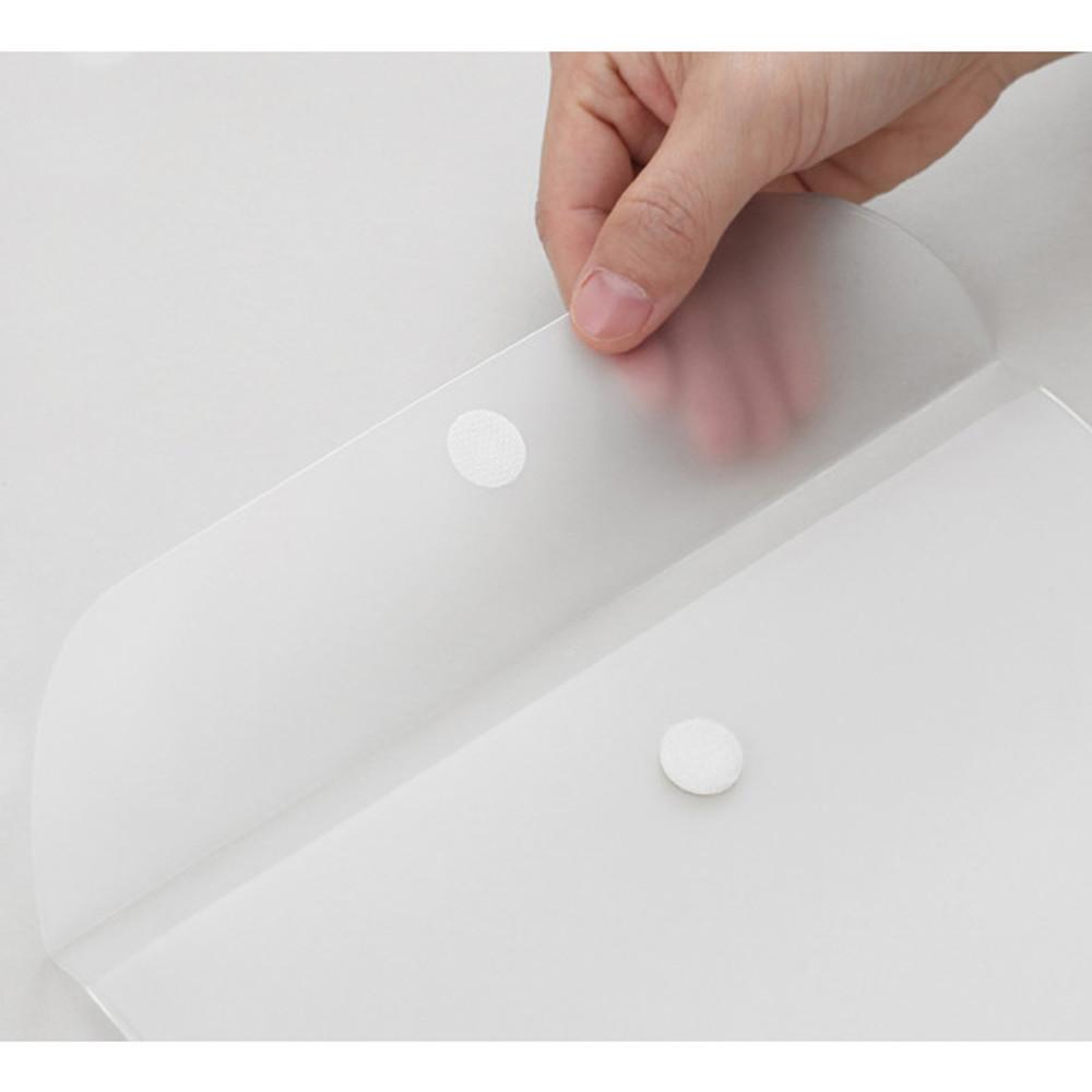 Velcro snap closure - 2NUL Smile A4 size clear snap file folder case pouch