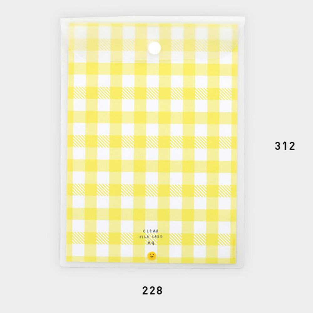 Size - 2NUL Smile A4 size clear snap file folder case pouch