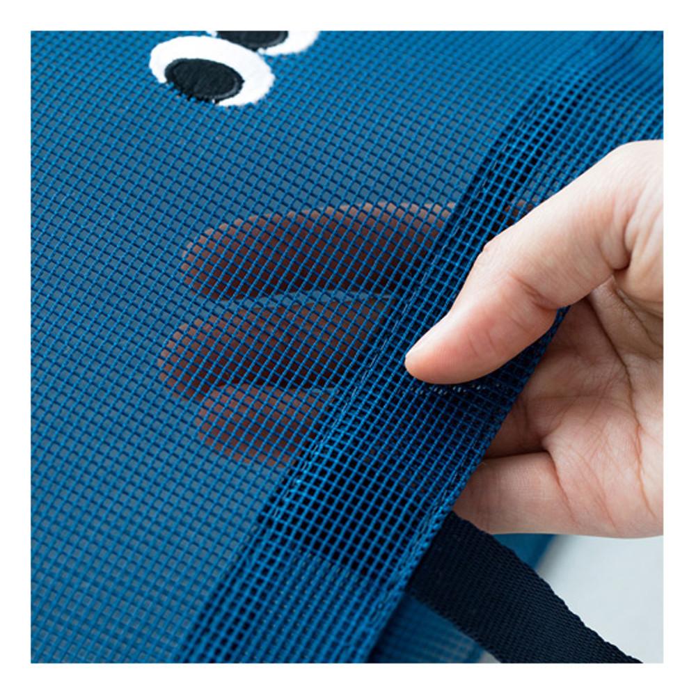 Mesh bag - Livework Som Som stitch mesh snap button tote bag