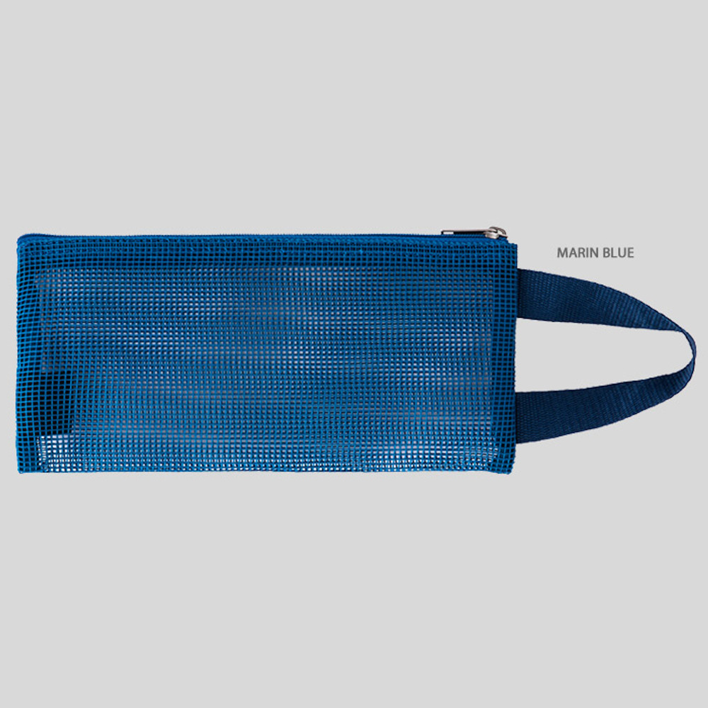 Marin blue - Livework A low hill handle mesh travel zipper pouch