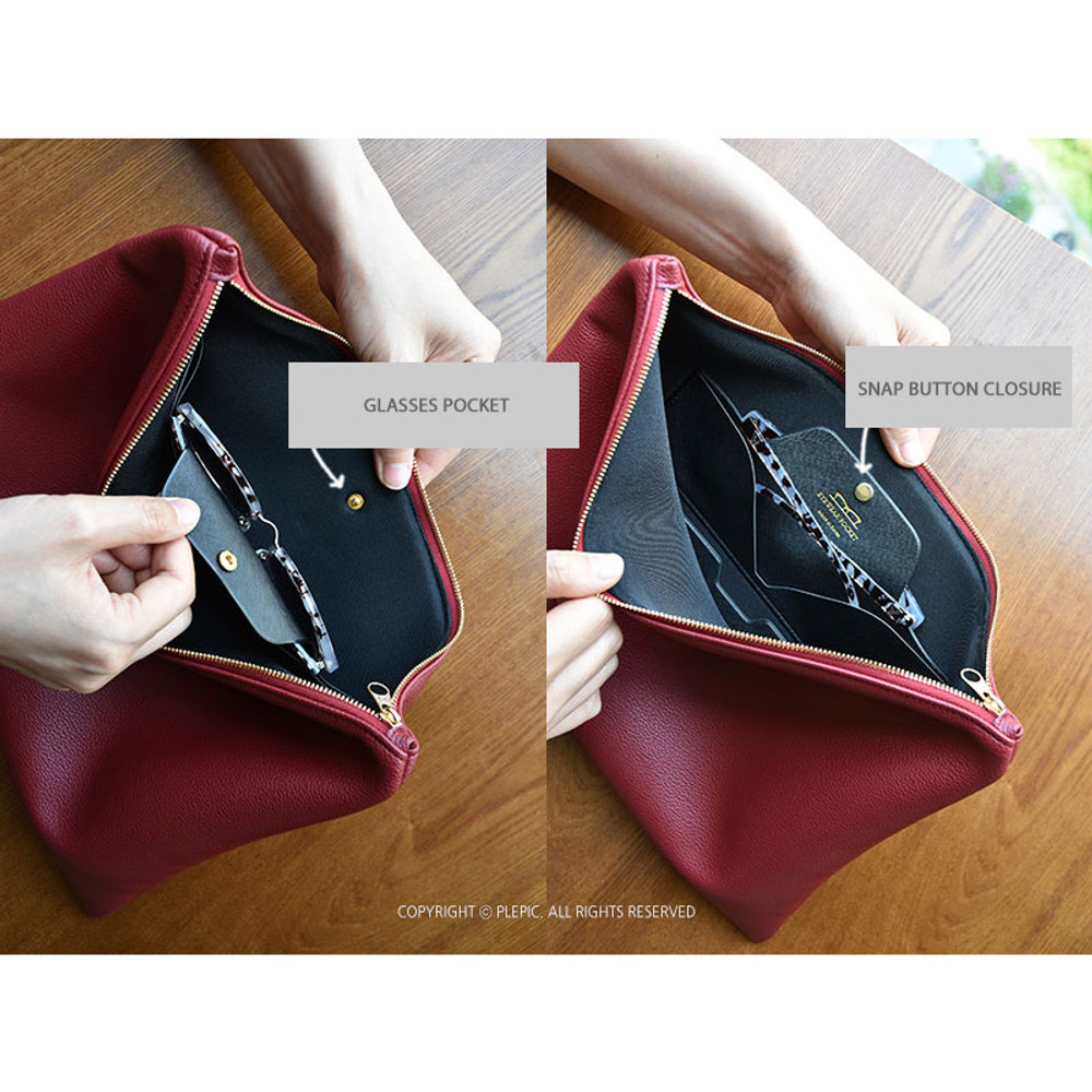 Glasses  pocket - Play Obje Feel so good clutch bag with glasses pocket