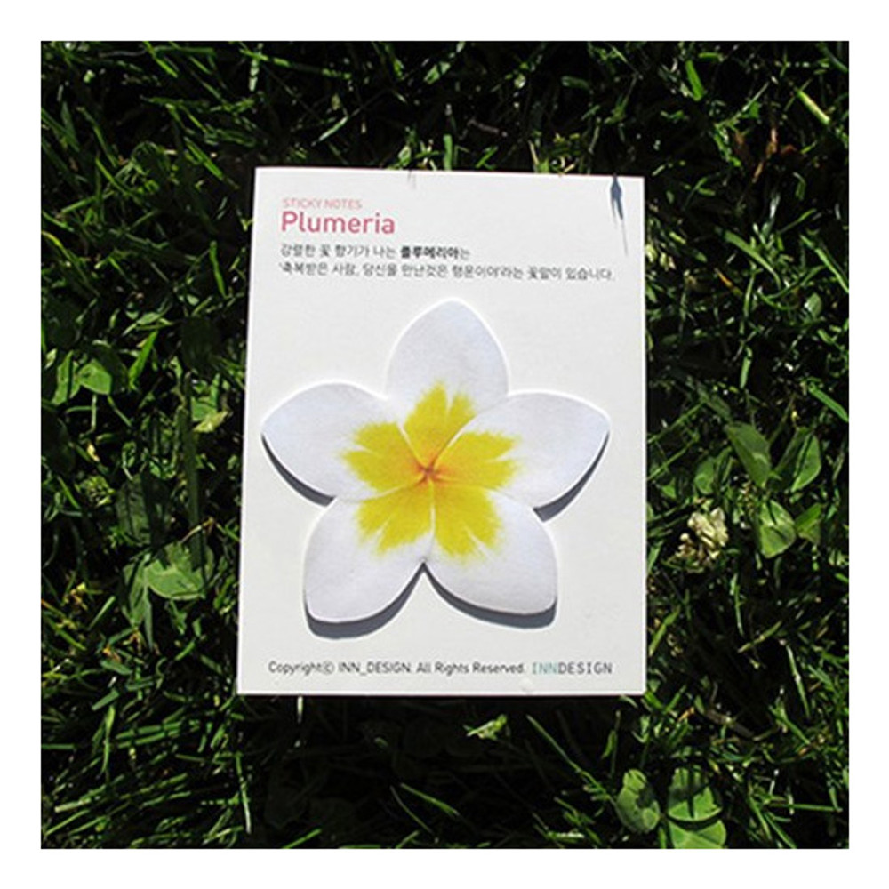 Package for Inndesign Plumeria sticky note 30 sheets