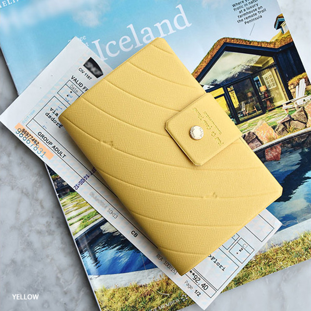 Yellow - Play Obje Airline travel passport case holder