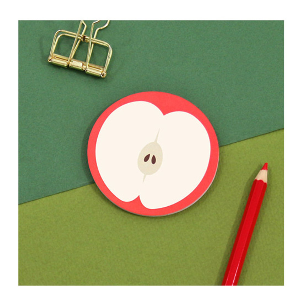 Example of use - Second Mansion Fruits sticky notes memo pad