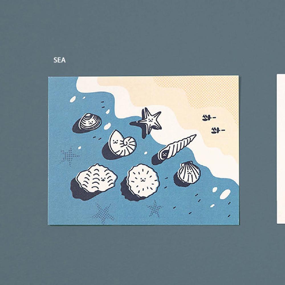 Sea - Ardium Cute virus message postcard