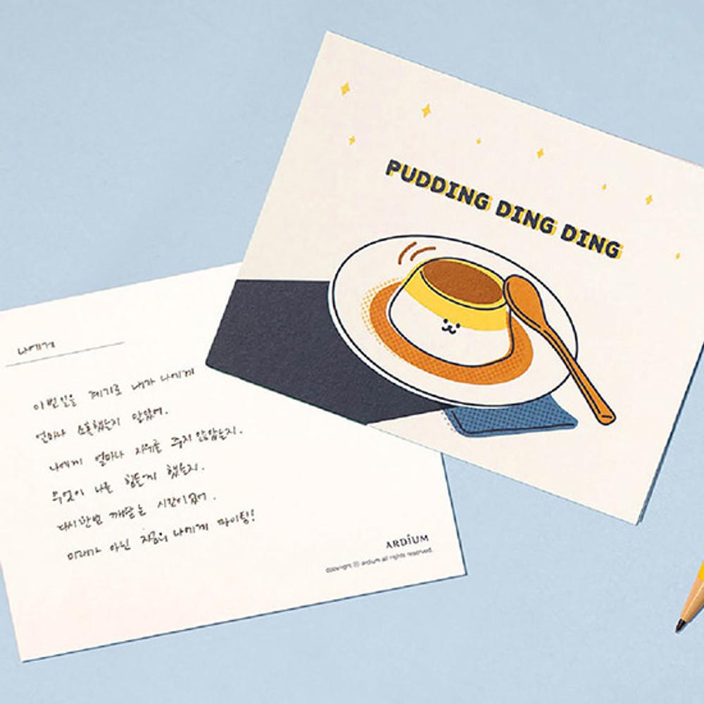 Example of use - Ardium Cute virus message postcard