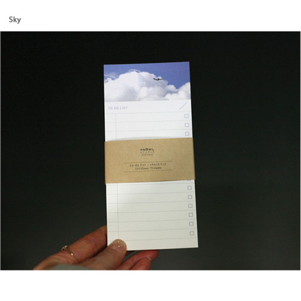 Sky - Snowl To do list notepad