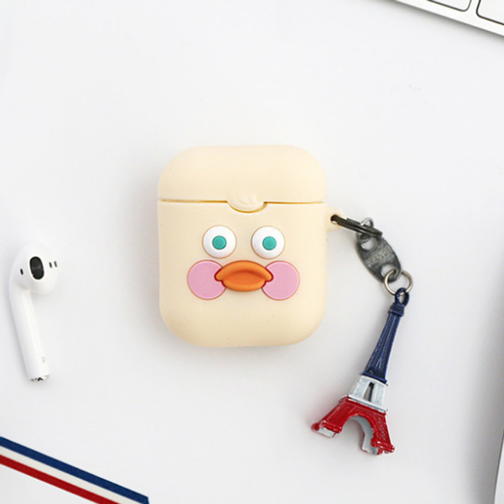White duck - ROMANE Brunch brother AirPods case silicone cover
