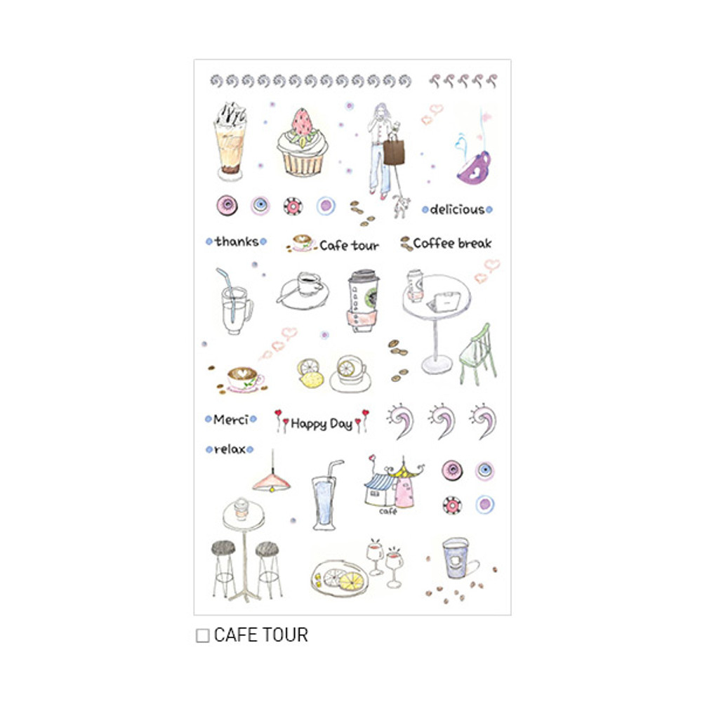 Cafe tour - Inndesign Daily vintage paper sticker