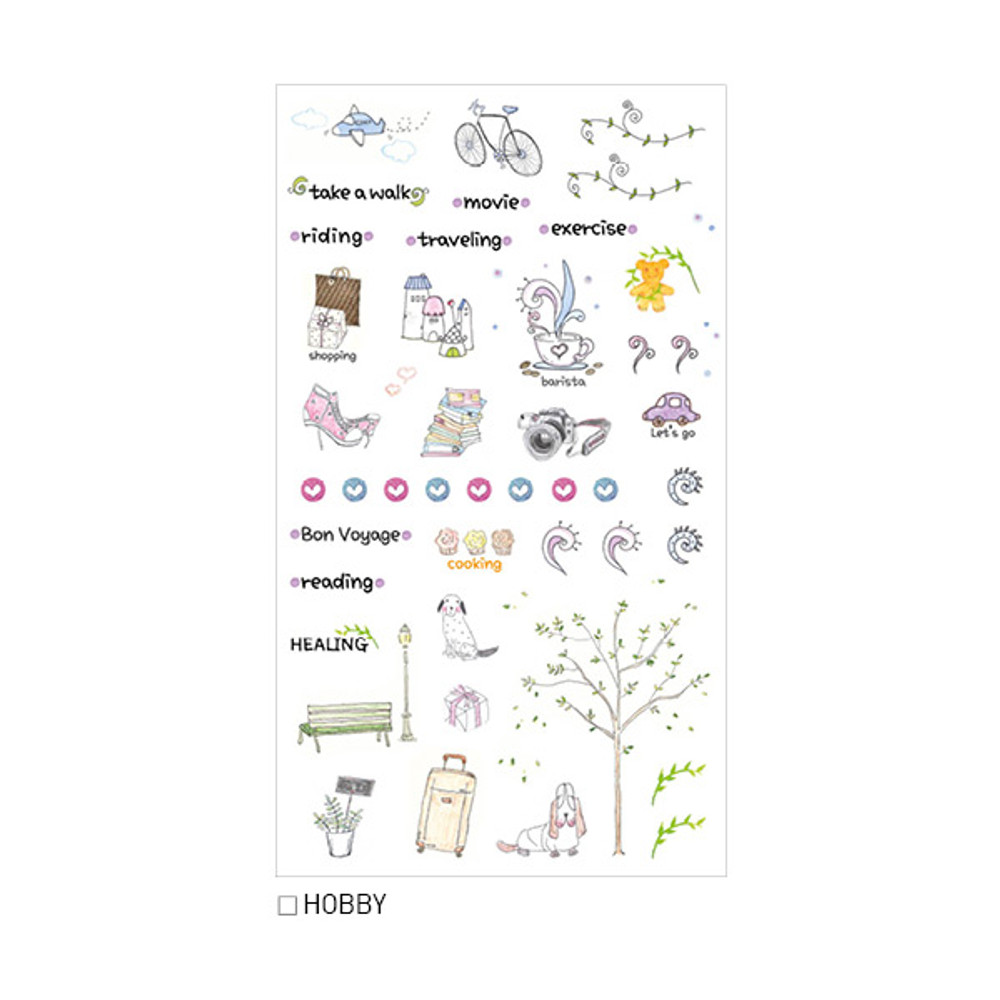Hobby - Inndesign Daily vintage paper sticker