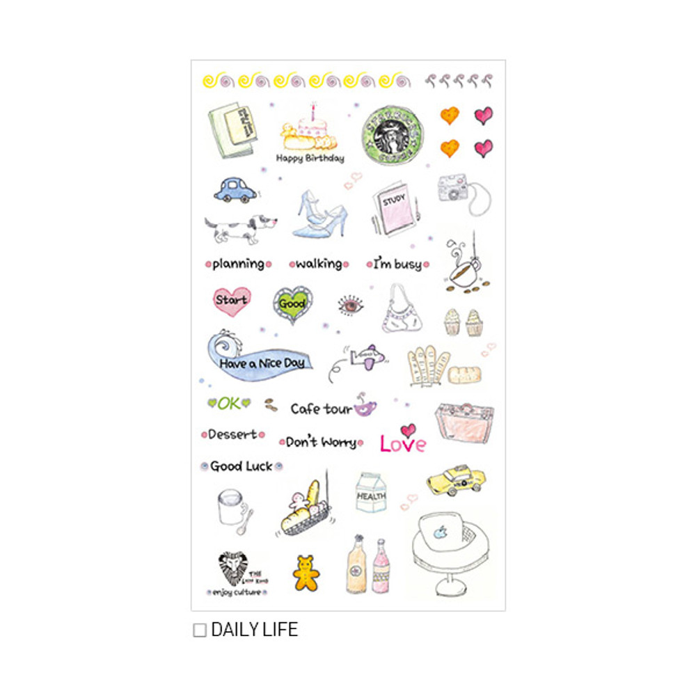 Daily life - Inndesign Daily vintage paper sticker