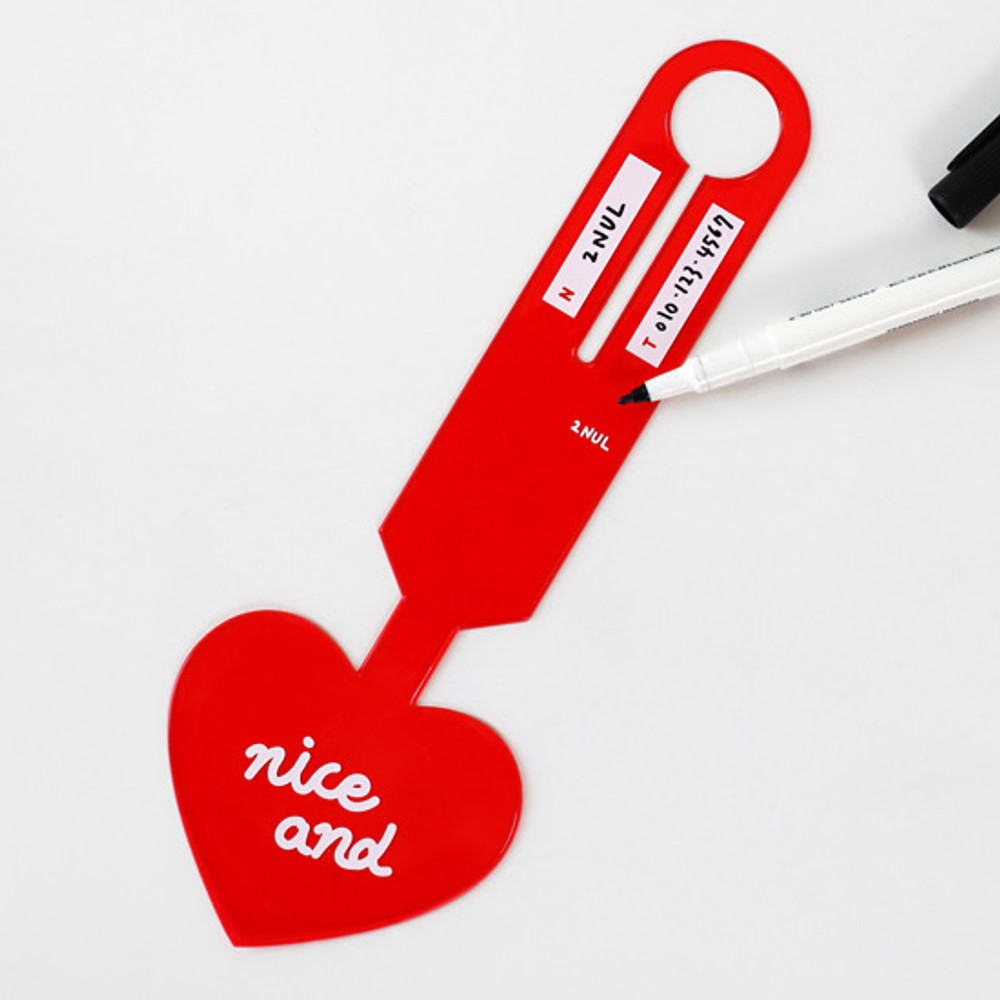 Information - 2NUL Nice and clear heart travel luggage name tag