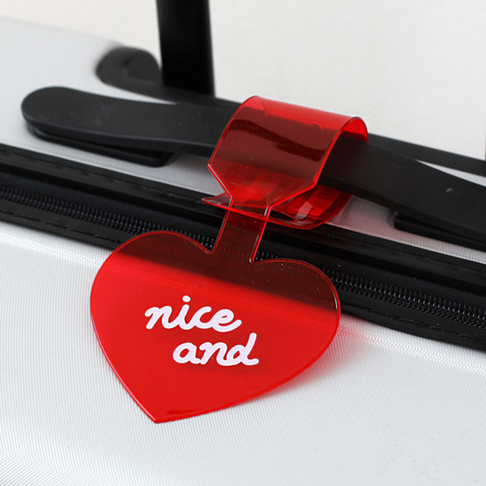 How to use - 2NUL Nice and clear heart travel luggage name tag