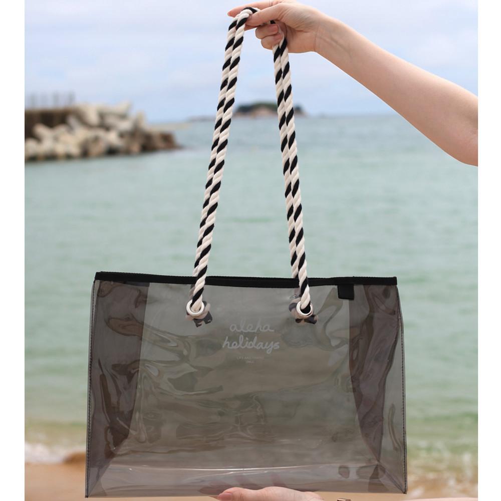 Two strap -  2NUL Aloha holidays black beach shoulder bag